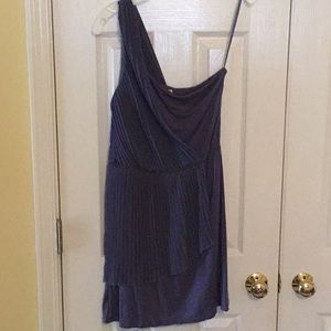 Blue Grecian One Shoulder Dress